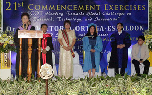 ASCOT's 1st October Graduation and  21st Commencement Exercises, with Dr. Ma. Victoria Ortega-Espaldon, Guest of Honor and Commencement Speaker.