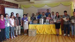 Ascot faculty and staff with Dole staff in the awarding of project